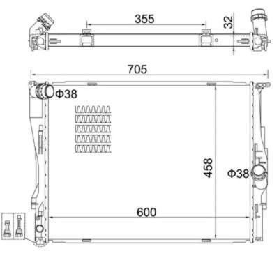 Paraurti Bmw Serie 1 muso cofano radiatori rinforzo kit airbag 07>12 - Foto 5