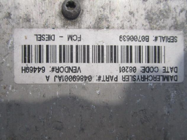 04869001AJ CENTRALINA POMPA CARBURANTE CHRYSLER VOYAGER 2.5 DIESEL 5M 5P 10 … - Foto 3