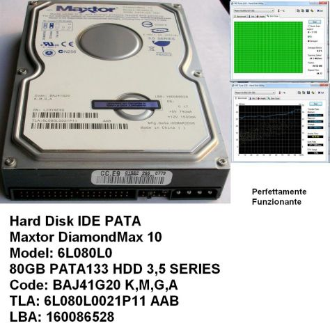 Hard Disk Maxtor DiamondMax 10 IDE PATA 80GB 3,5'' Model: 6L080L0 80GB - Foto 2