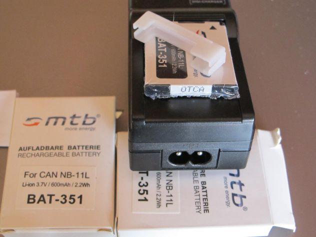 MTB digi-charger  DCL-638 canon NB-11L +2 bat.-Li-ion351 - Foto 4