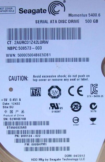 PCB Scheda logica hard Disk Seagate Sata 2,5 ' 500 GB SAMSUNG 210 K4H641638 … - Foto 3