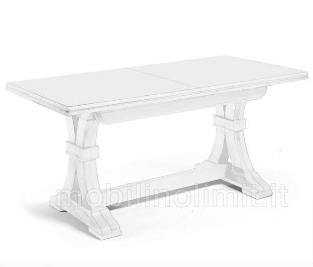 Tavolo fratino allungabile bianco L. 180 cm