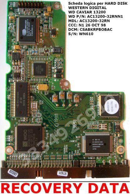 PCB SCHEDA LOGICA per Hard Disk WESTERN DIGITAL WD Caviar 13200 IDE - Foto 2