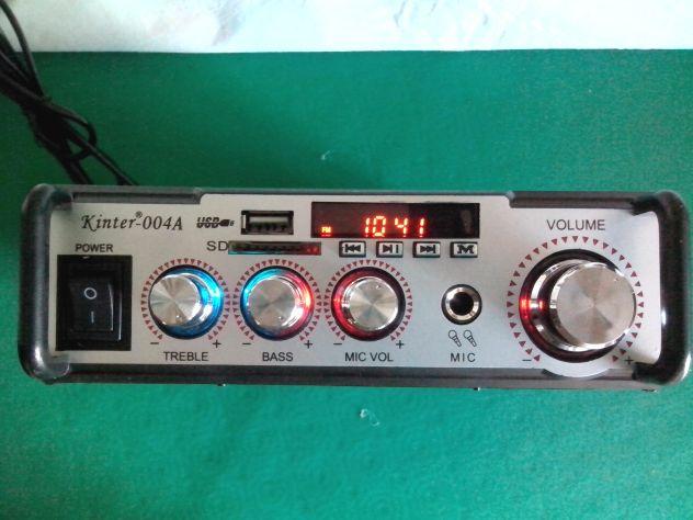Karaoke stereo hi-fi amplificatore bluethooth multiuso 50 watt - Foto 2