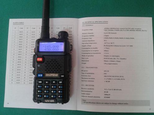RADIO RICETRASMITTENTE DUAL BAND BAOFENG UV-5R VHF UHF