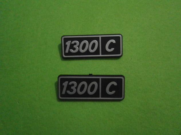 Scitte loghi targhette fiancate posteriori Fiat 128 1300 confort  NUOVE - Foto 3