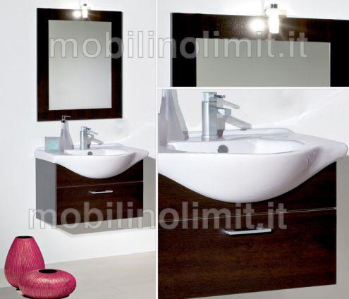 Mobile Bagno Sospeso - Wengè (55 cm) - Nuovo
