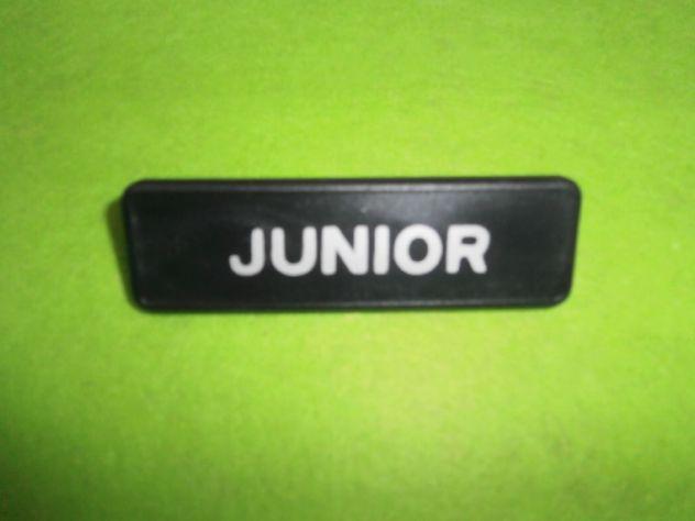 Targhetta parafango anteriore Autobianchi a112 Junior 6a serie NUOVA