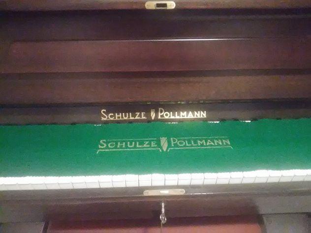 PIANOFORTE VERTICALE SCHULZE POLLMANN IN NOCE, ANNI '70 - Foto 3