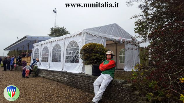 Tendoni per eventi , Bar, Ristoranti, Catering 5 x 8 x 2,6 mt. pvc 550 Ignifugo - Foto 4