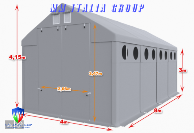 BOX CAMPER  4 X 8 ChiaraLuce CamperObló Professionali Pvc - Foto 4