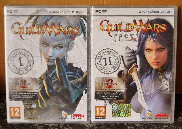 Lotto giochi pc GDR guild wars 1 e 2 factions NUOVI SIGILLATI RPG