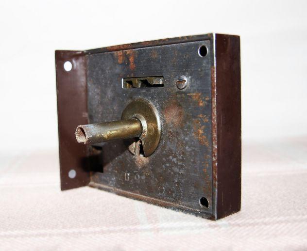 ANTICA SERRATURA DA APPLICARE con chiave - FUNZIONANTE - Foto 7