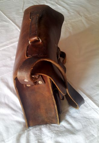 Borsa lavoro/portadocumenti in pelle antichizzata (Unisex) - Foto 5