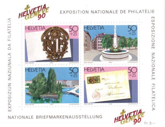 Francobolli nuovi annata 1990 Svizzera