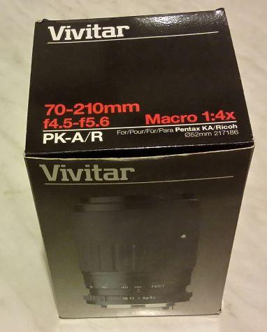 Vivitar 70-210mm f/4.5-5.6 Macro 1:4X Nuovo completo