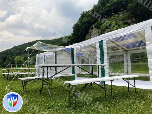 Tendoni Tendostrutture Gazebo  trasparenti  pvc cristal , con velcro, modulari - Foto 7