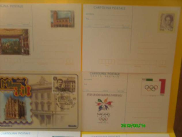 Francobolli cartoline commemorative emesse poste italiane