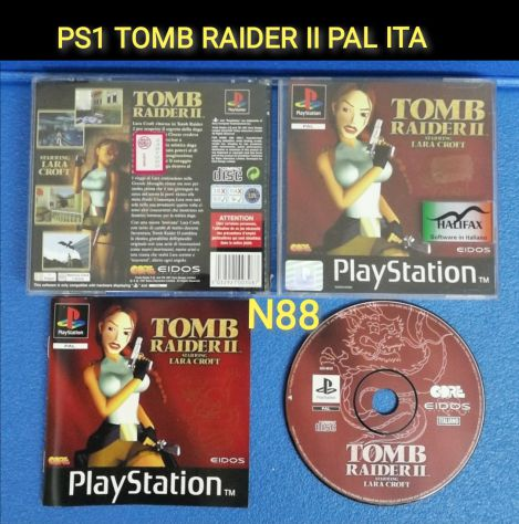 PS1 TOMB RAIDER II PAL ITALIANO