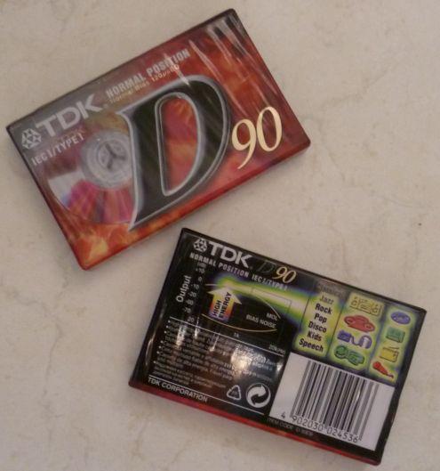 Cassetta TDK D90 Originale