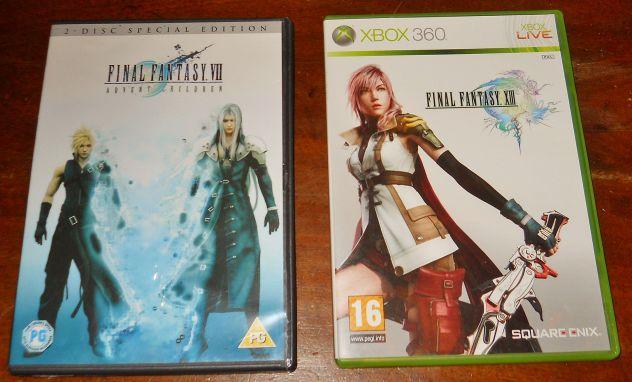 Gioco final fantasy XIII 13 RPG xbox 360 dvd final fantasy VII advent children