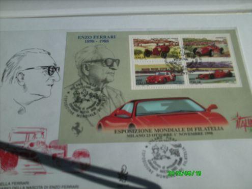 Francobolli Italia *Enzo Ferrari* 1898 1988