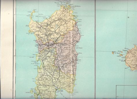 Anni 40' N 14 Carte Geografiche Italia sottodescritte