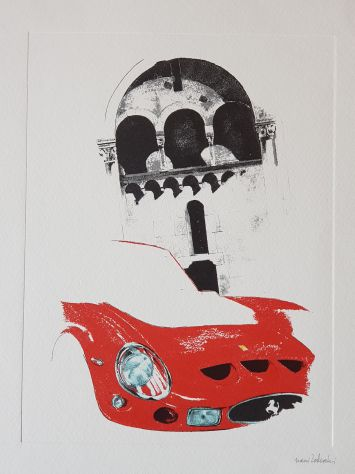 Nani Tedeschi litografie 1994 Galleria Ferrari