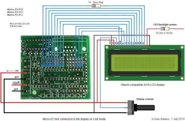 Micro-GT mini scheda programmazione PIC 16F876A - Foto 6