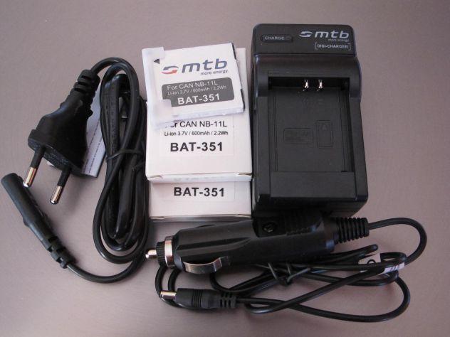 MTB digi-charger  DCL-638 canon NB-11L +2 bat.-Li-ion351 - Foto 3