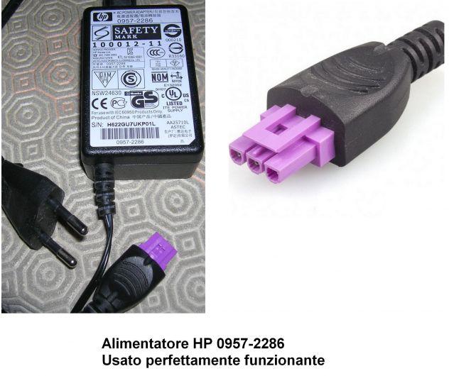 Alimentatore HP 0957-2286 Completo di cavo alimentazione  Usato perfettamente fu