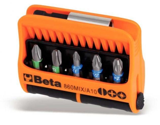 Serie di 10 inserti con portainserti magnetico Beta 860MIX/A10 - Cardelli
