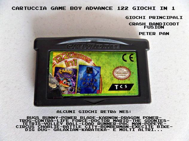 Cartuccia Game Boy Advance multigioco (122 in 1) Crash Bandicoot Fusion