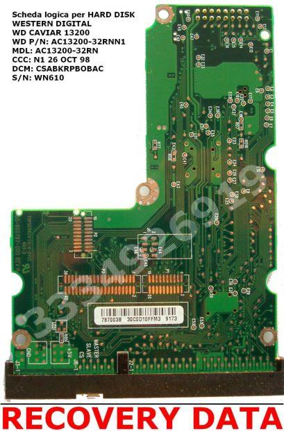 PCB SCHEDA LOGICA per Hard Disk WESTERN DIGITAL WD Caviar 13200 IDE