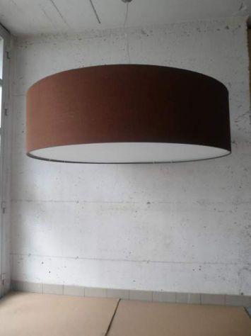 LAMPADARIO IN TESSUTO CILINDRO  IN TUTTE LE MISURE GRANDI - MAXI - Foto 7
