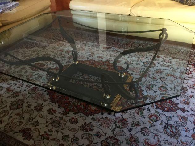 Offro Tavolo centro sala in ferro battuto/ vetro - Foto 4