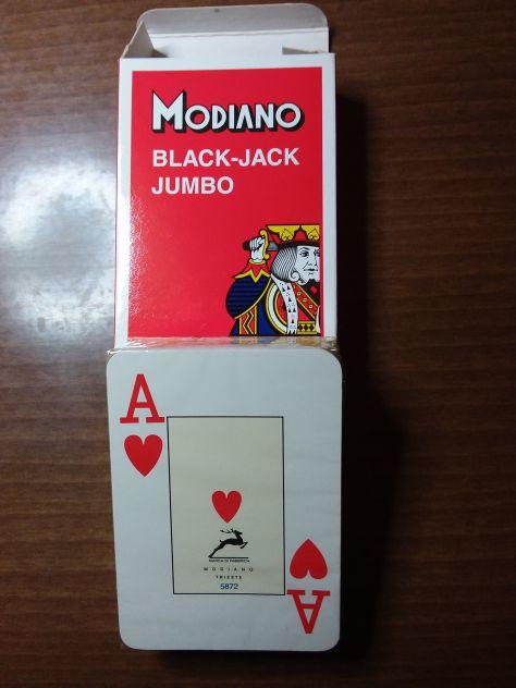 Mazzo di 54 Carte Modiano Back Jach -  NUOVO - Sigillato - Foto 2