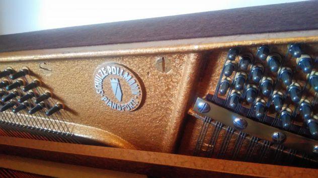 PIANOFORTE VERTICALE SCHULZE POLLMANN IN NOCE, ANNI '70 - Foto 7