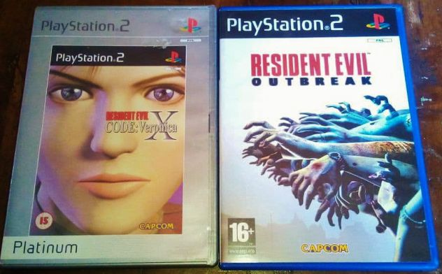 Set giochi sony ps2 playstation 2 resident evil code veronica x outbreak capcom
