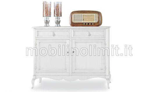 Credenza 2 Porte 2 Cassetti - Bianco Opaco - Nuovo