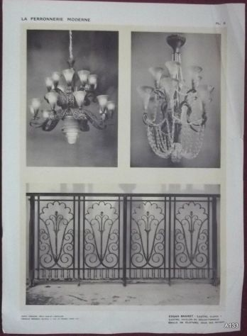 1925 CLOUZOT: LA FERRONNERIE MODERNE PORTFOLIO - Foto 3