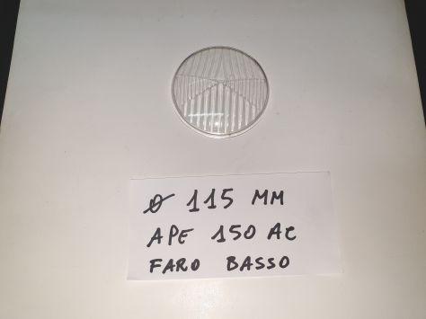 VETRO FARO PIAGGIO APE 150 AC FARO BASSO