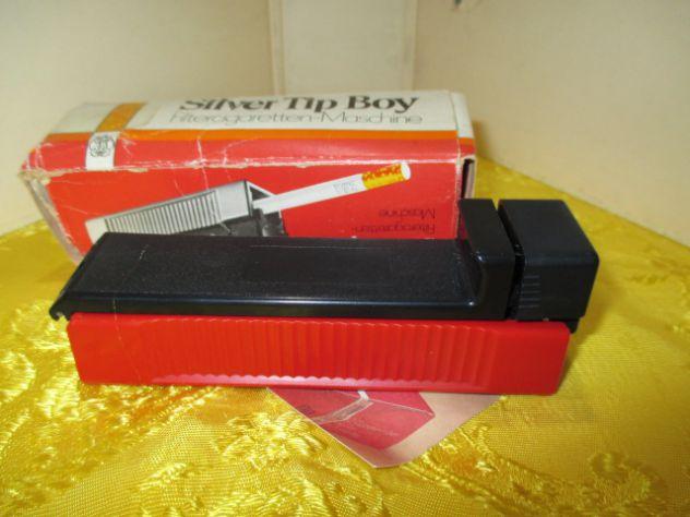 Macchinetta per sigarette SILVER TIP BOY GIZEH con scatola e brochure originali,