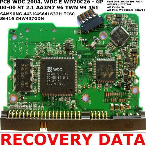 PCB Scheda logica HD Western Digital 200GB IDE PATA WD Caviar SE WD2000JB 0 …