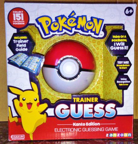Pokemon pokeball nintendo trainer guess kanto edition electronic game console