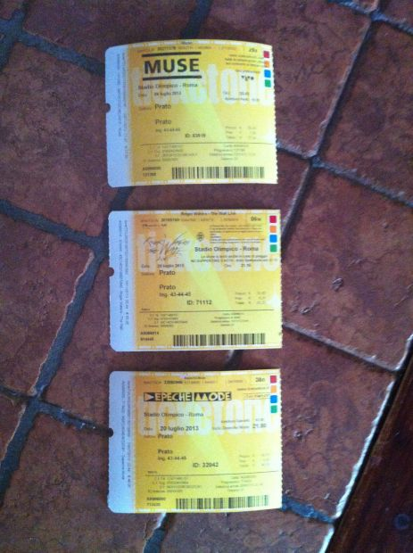 Biglietti Concerti Rock Passati Unused e Non, Da Collezione! - Foto 4