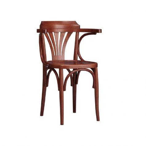 Sedie in legno massello cod k nuove con braccioli, ideali per arredo pub