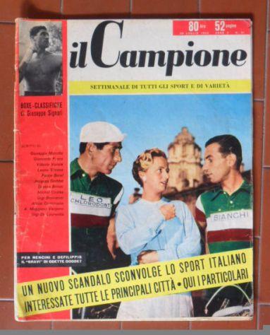 IL CAMPIONE SETTIMANALE DI TUTTI GLI SPORT E VARIETA' - N° 31 DEL 30-7-1956-