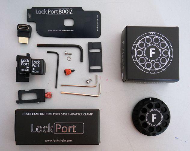 Nikon D800 - LOCK CIRCLE HDMI port saver clamp - Foto 2