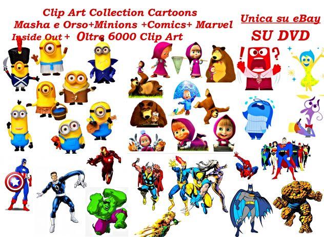 Mega Raccolta 6000 Clip Art Cartoons su DVD
